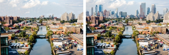 Downtown Brklyn from Sm 9th, Stephan Speranza, NYT Edited Before and After copy