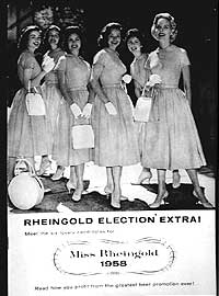 Miss Rheingold Contestants, 1958