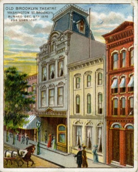 The Brooklyn Theatre post card