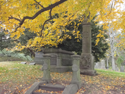 Greenwood Cemetery, monuments, markers, fall 2018