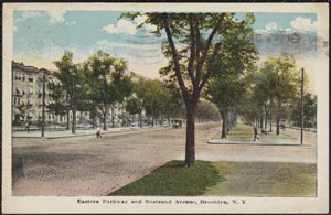 Easern Parkway and Nostrand AVe., c 1919 300W